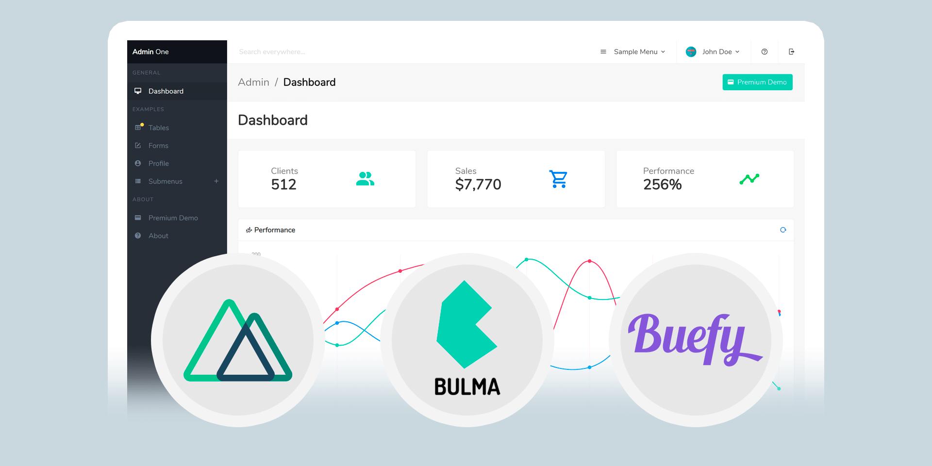 Admin One - Free Nuxt.js Bulma Admin Dashboard