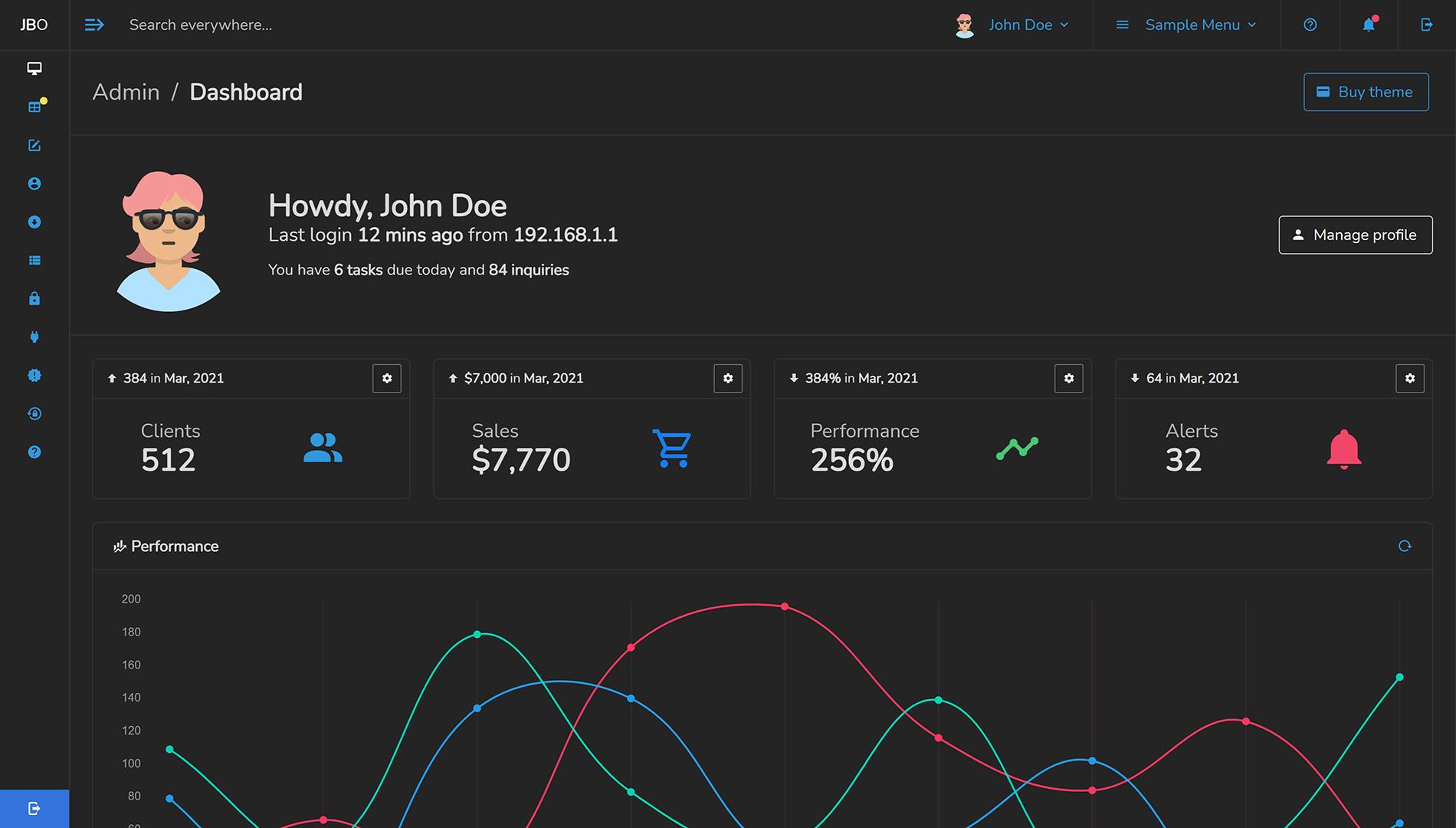 Admin One Vue / Nuxt / HTML Bulma dashboard template with dark mode