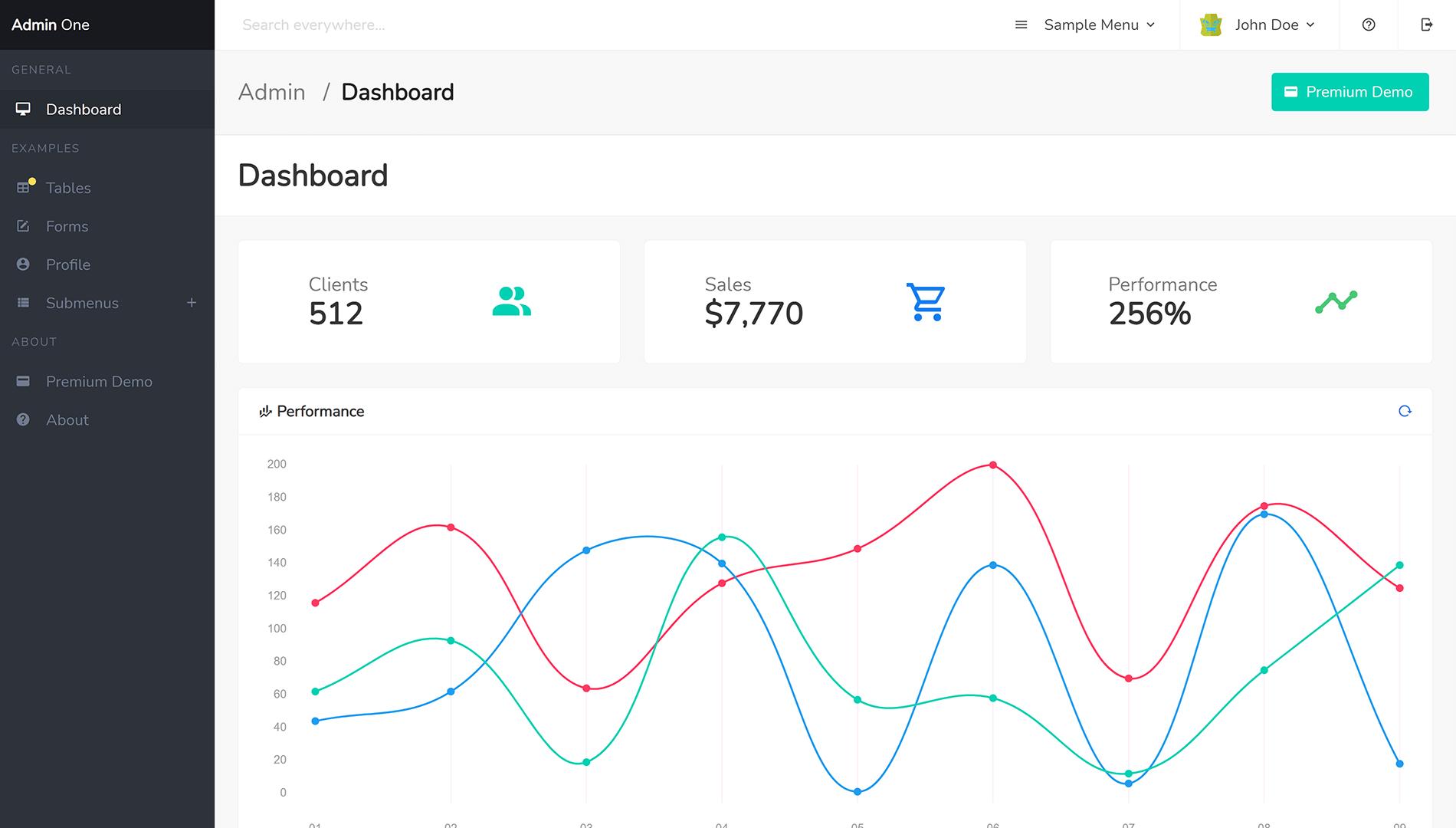Admin One - Free Vue Bulma Buefy dashboard template