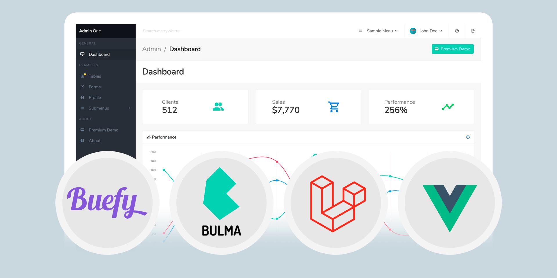 Admin One - Free Laravel Vue.js Bulma Admin Dashboard